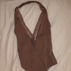 The brand ME from Pacsun halter bodysuit.